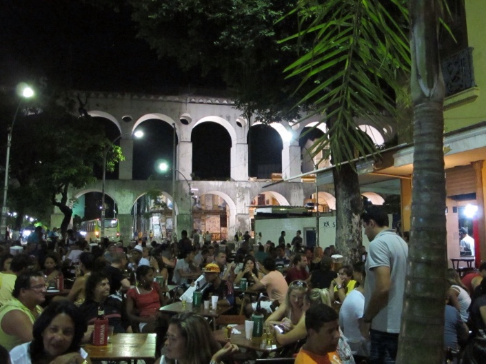 Once, Lapa's arches served as an aqueduct. Now, water is the furthest thing from the revellers' minds